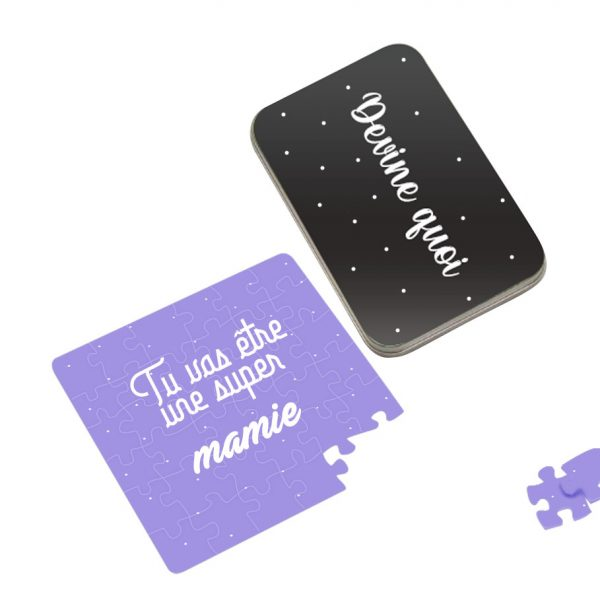annonce grossesse carte puzzle mamie