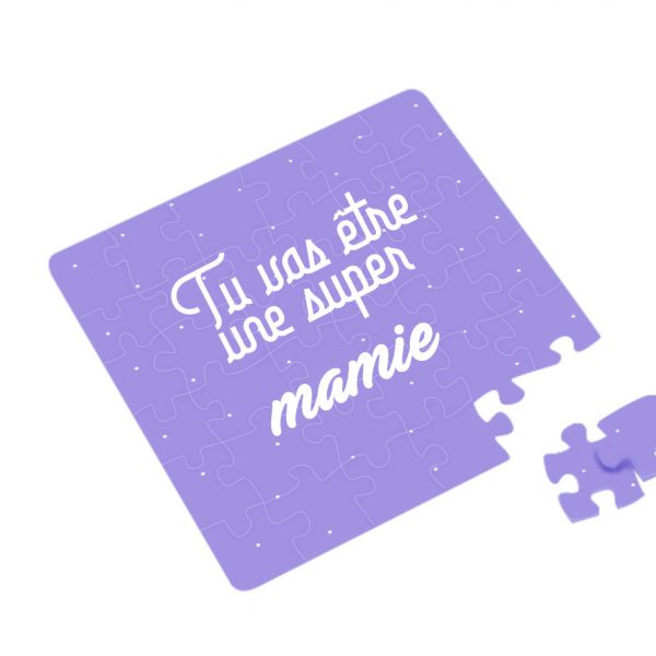 annonce grossesse carte puzzle mamie 1